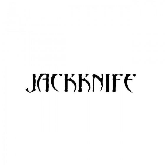 Jackknifeband Logo Vinyl Decal