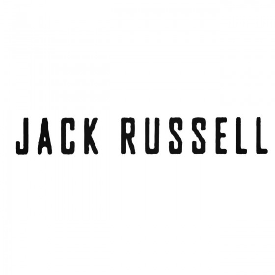 Jack Russell Band Decal...