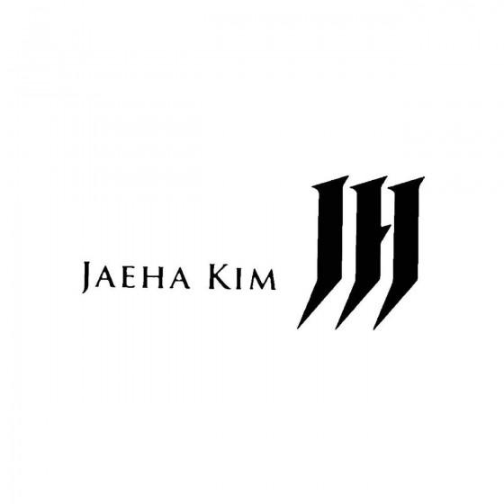 Jaeha Kimband Logo Vinyl Decal