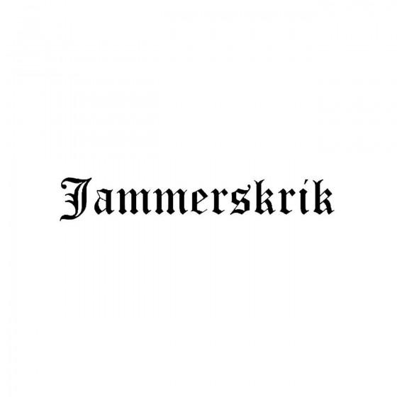 Jammerskrikband Logo Vinyl...
