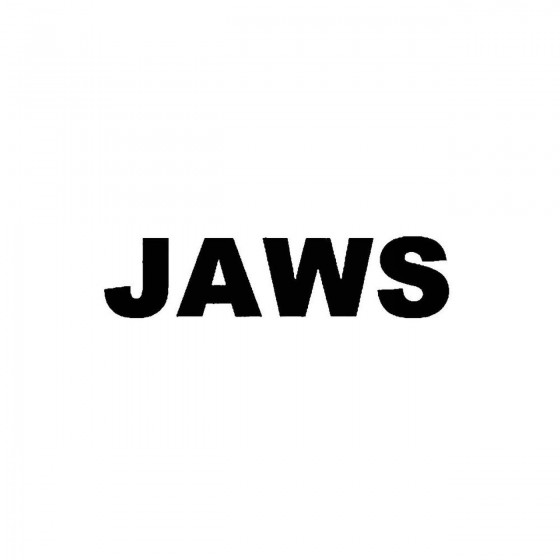 Jaws 2band Logo Vinyl Decal