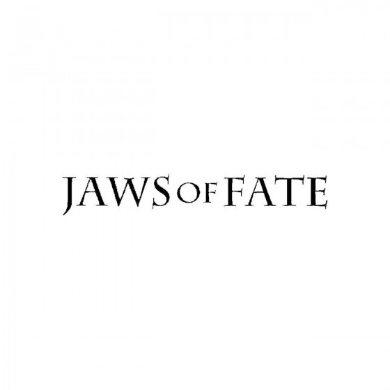 Jaws Of Fateband Logo Vinyl...