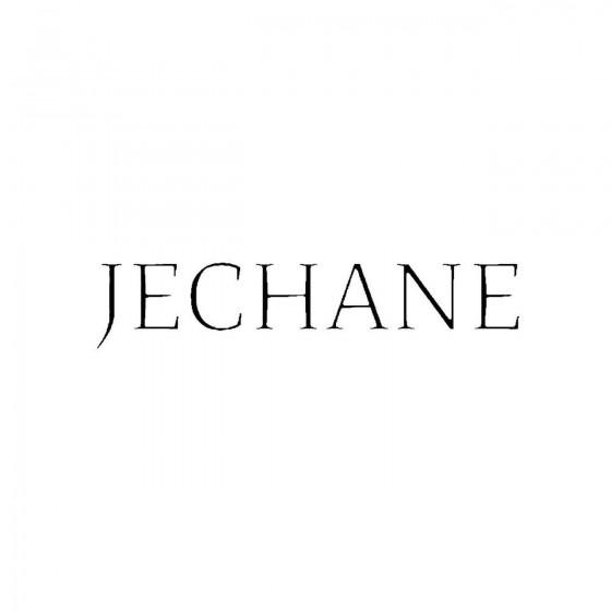 Jechaneband Logo Vinyl Decal