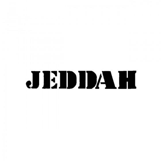 Jeddahband Logo Vinyl Decal
