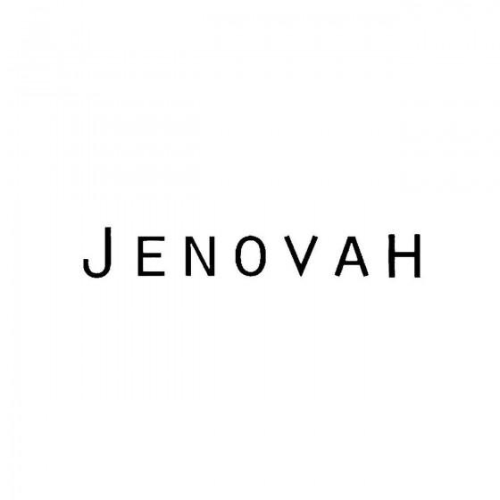 Jenovahband Logo Vinyl Decal