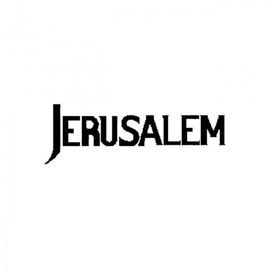 Jerusalem 3band Logo Vinyl...