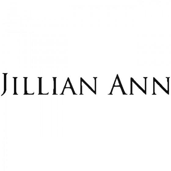 Jillian Ann Band Decal Sticker