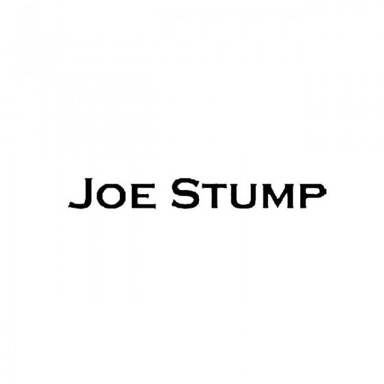 Joe Stumpband Logo Vinyl Decal
