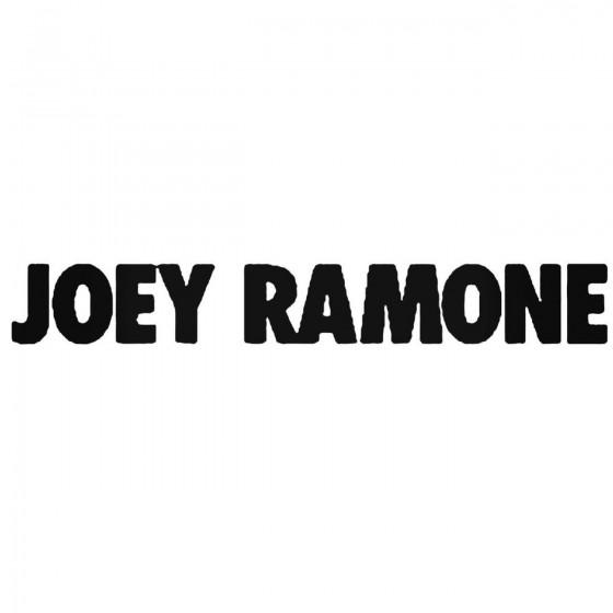 Joey Ramone Band Decal Sticker