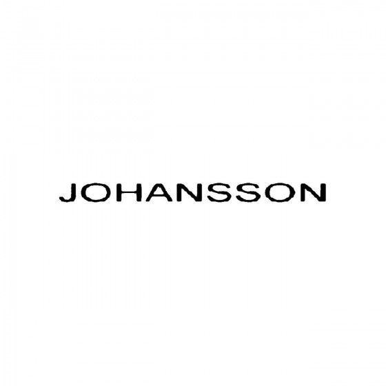 Johanssonband Logo Vinyl Decal