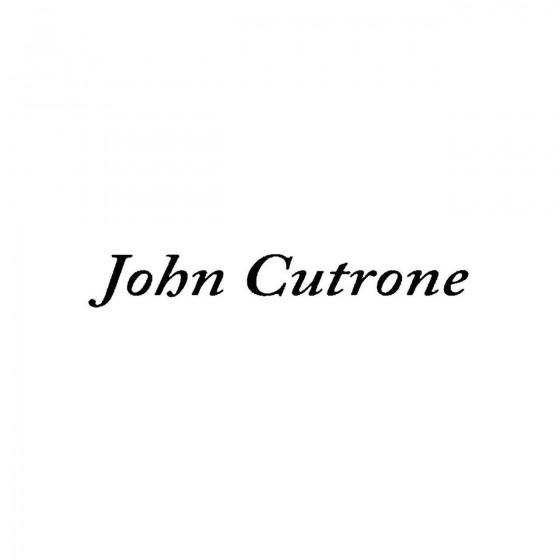 John Cutroneband Logo Vinyl...