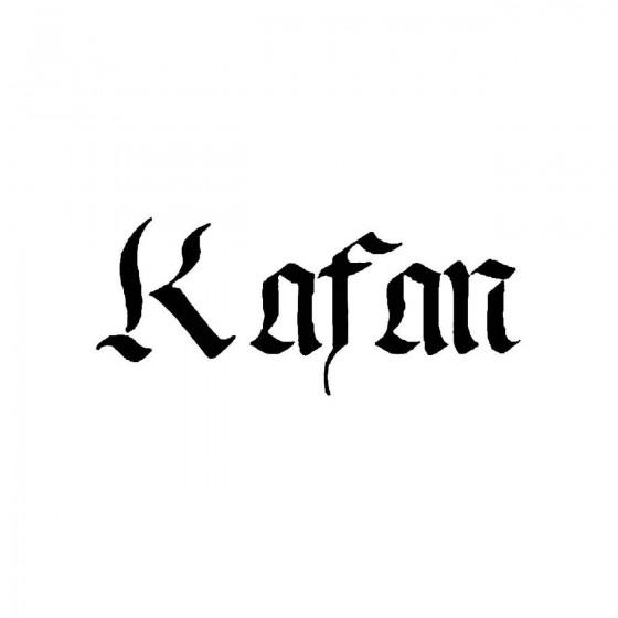 Kafanband Logo Vinyl Decal