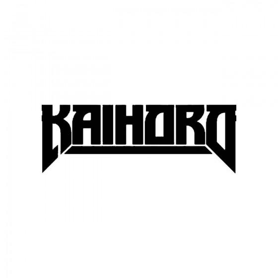 Kaihoroband Logo Vinyl Decal
