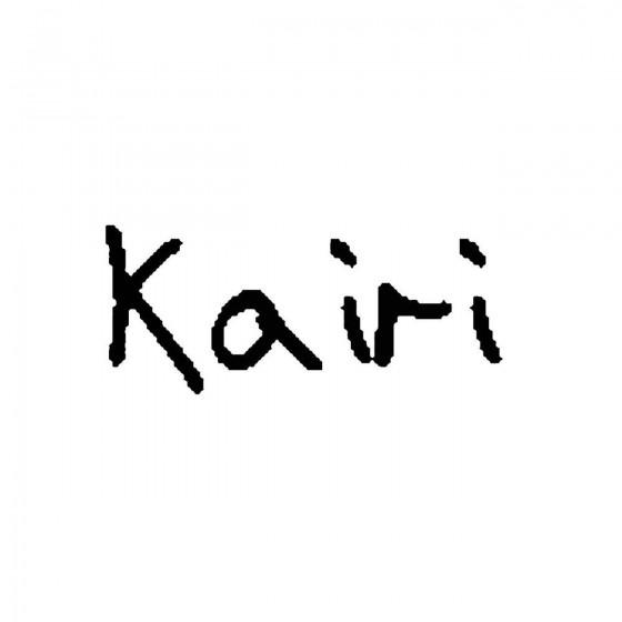Kairiband Logo Vinyl Decal