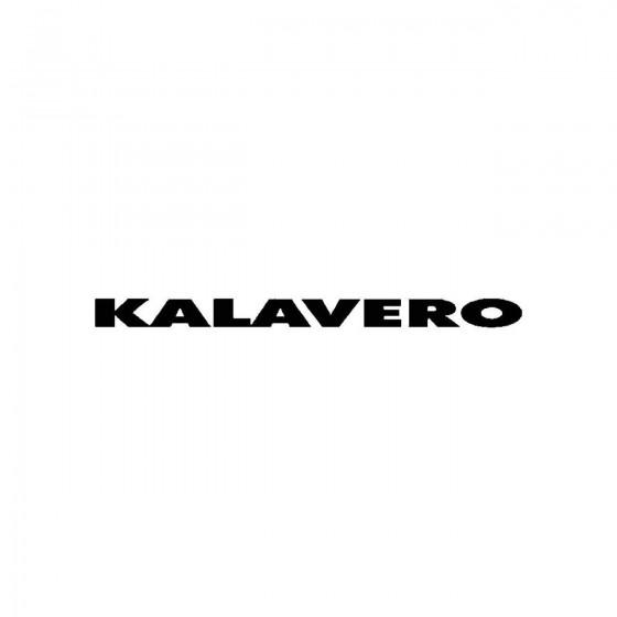 Kalaveroband Logo Vinyl Decal