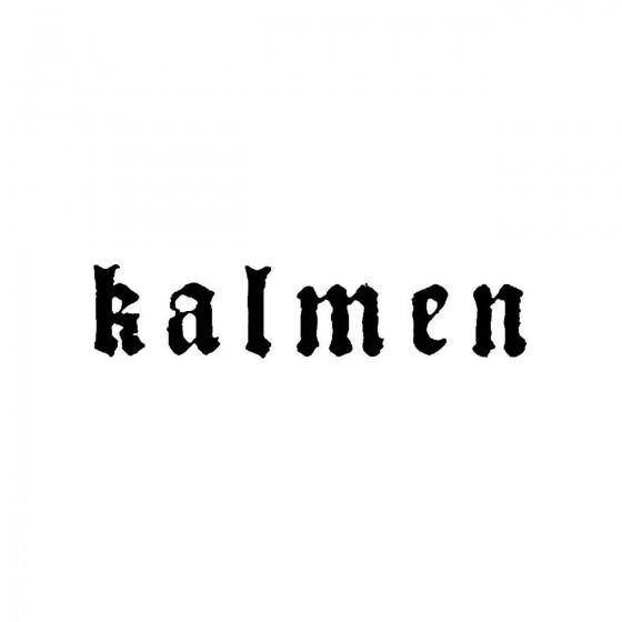 Kalmenband Logo Vinyl Decal