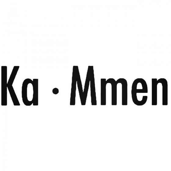 Ka Mmen Band Decal Sticker