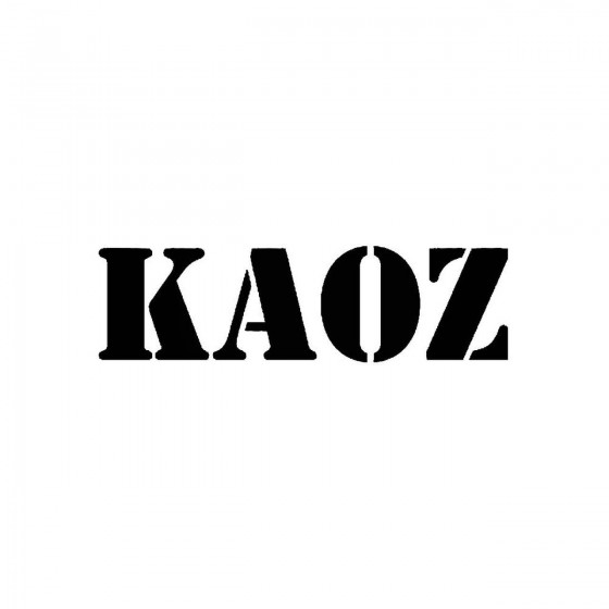 Kaoz 2band Logo Vinyl Decal