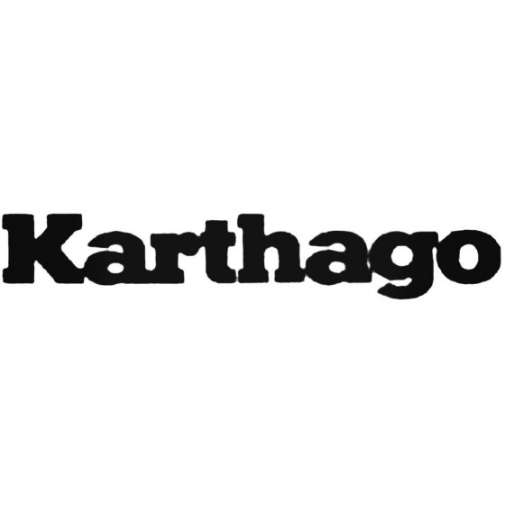 Karthago Band Decal Sticker
