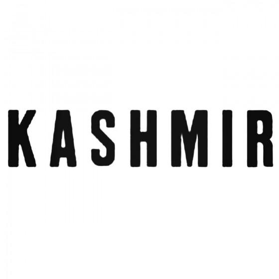 Kashmir Decal Sticker