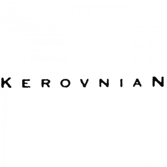 Kerovnian Band Decal Sticker
