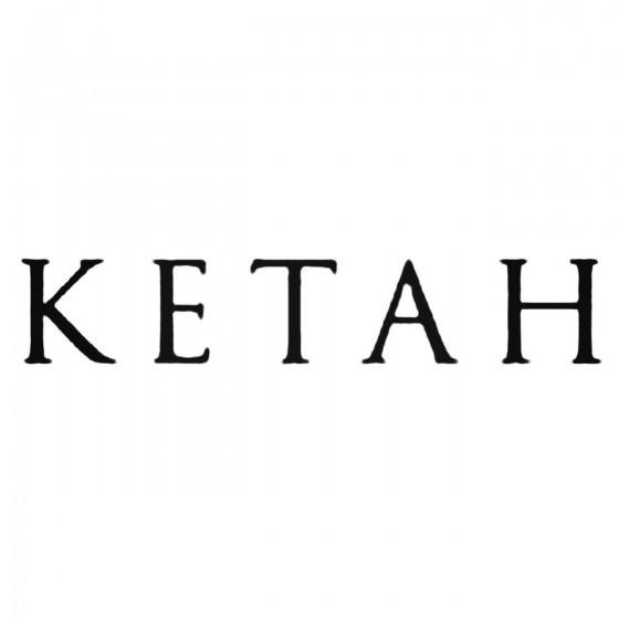 Ketah Band Decal Sticker
