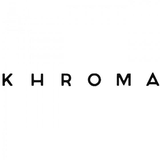 Khroma Band Decal Sticker