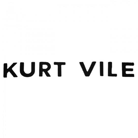 Kurt Vile Band Decal Sticker