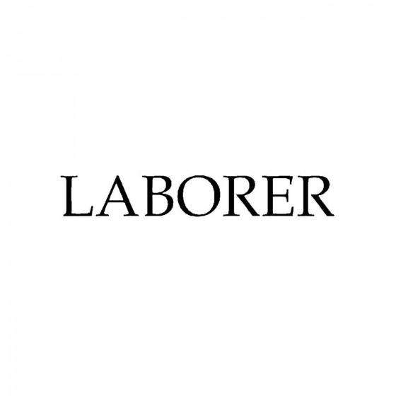 Laborerband Logo Vinyl Decal