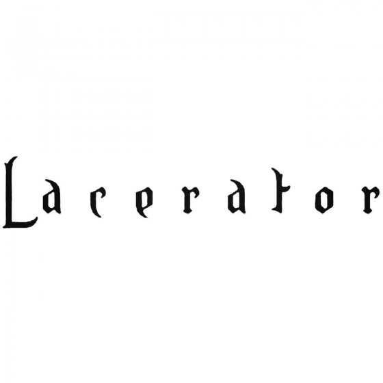 Lacerator Band Decal Sticker