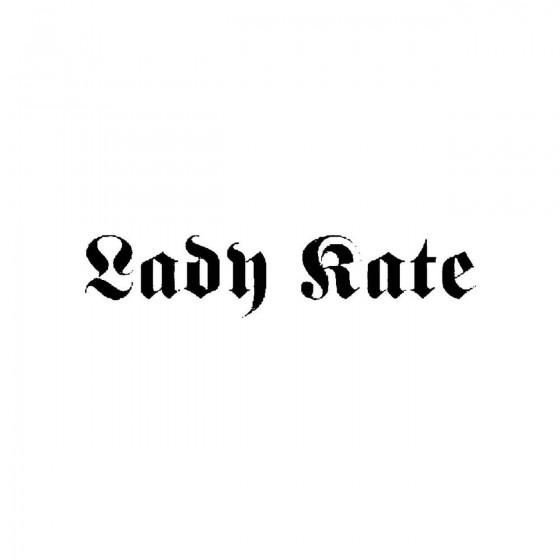Lady Kateband Logo Vinyl Decal