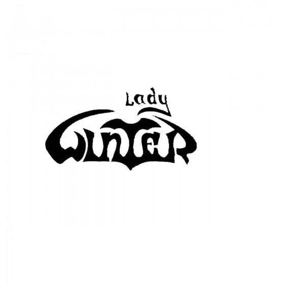 Lady Winterband Logo Vinyl...