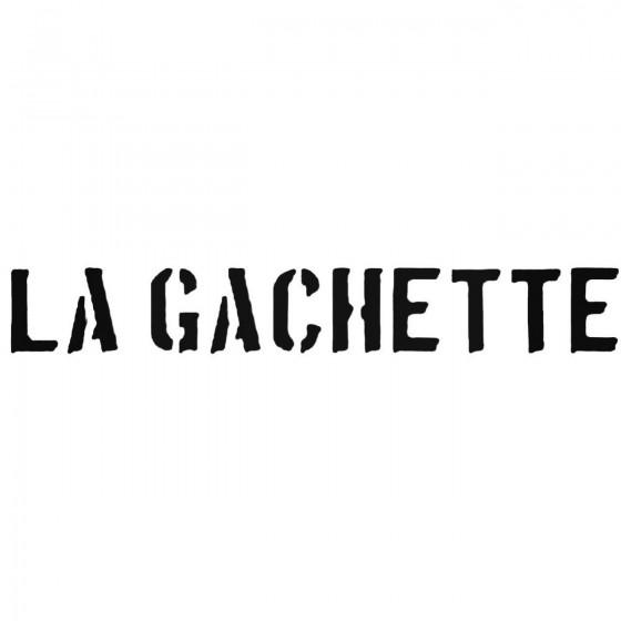 La Gachette Band Decal Sticker