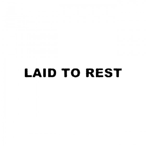 Laid To Rest 3band Logo...