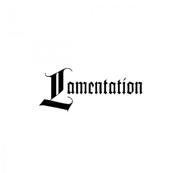 Lamentationband Logo Vinyl...