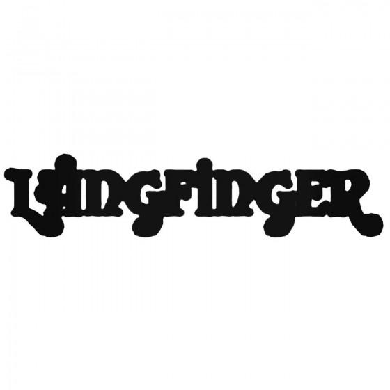 Langfinger Band Decal Sticker