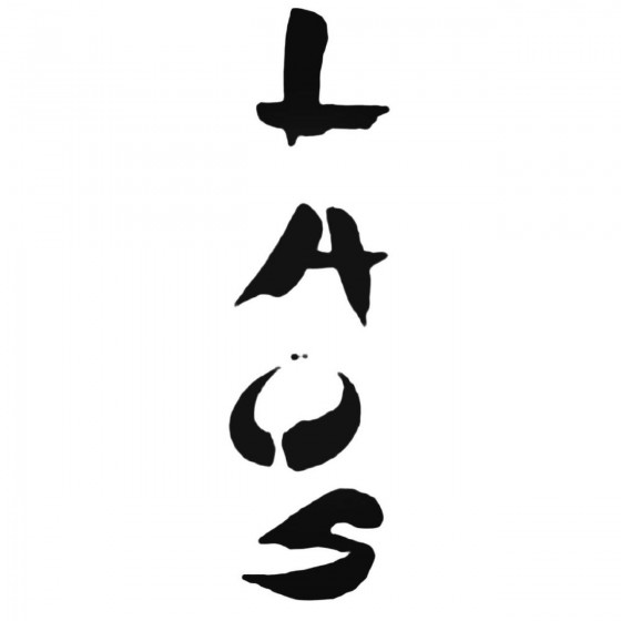 Laos Band Decal Sticker