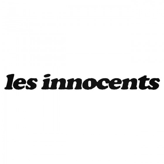 Les Innocents Band Decal...