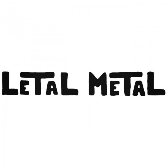 Letal Band Decal Sticker