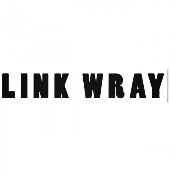 Link Wray Band Decal Sticker