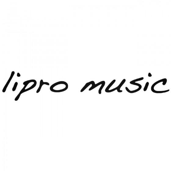 Lipro Music Decal Sticker