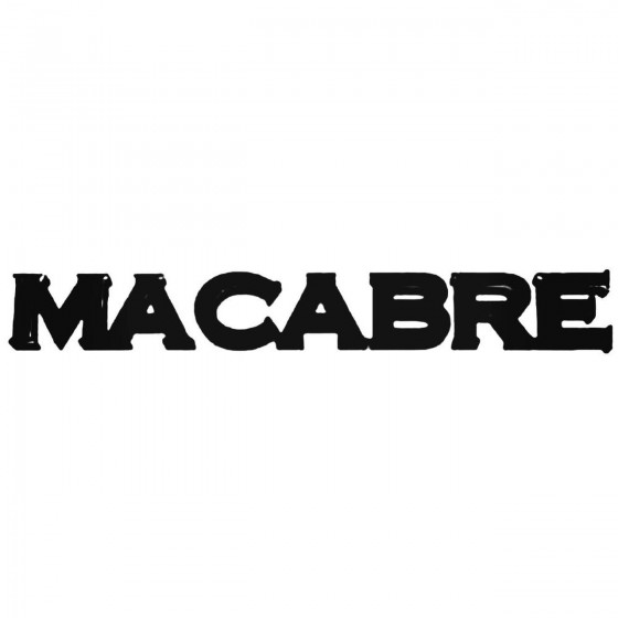 Macabre Band Decal Sticker