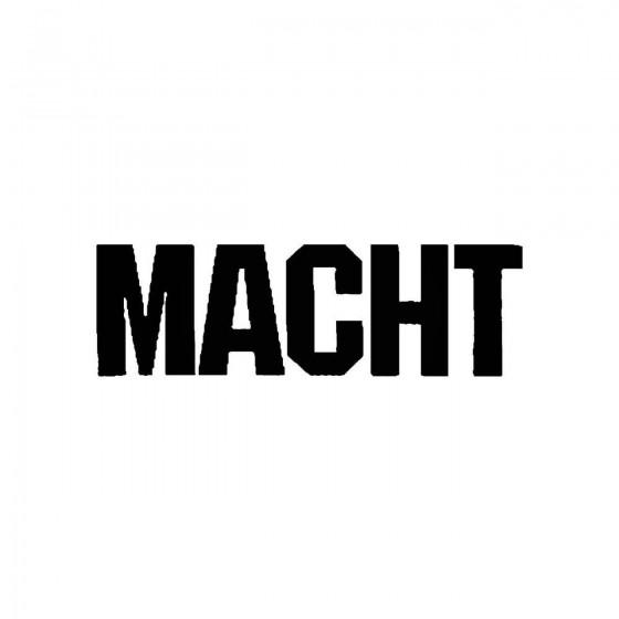 Machtband Logo Vinyl Decal