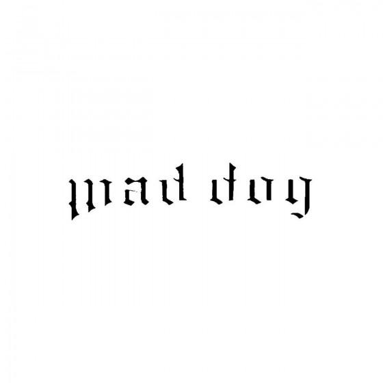 Mad Dog 2band Logo Vinyl Decal