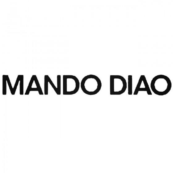 Mando Diao Band Decal Sticker