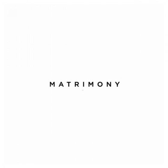 Matrimony Band Decal Sticker