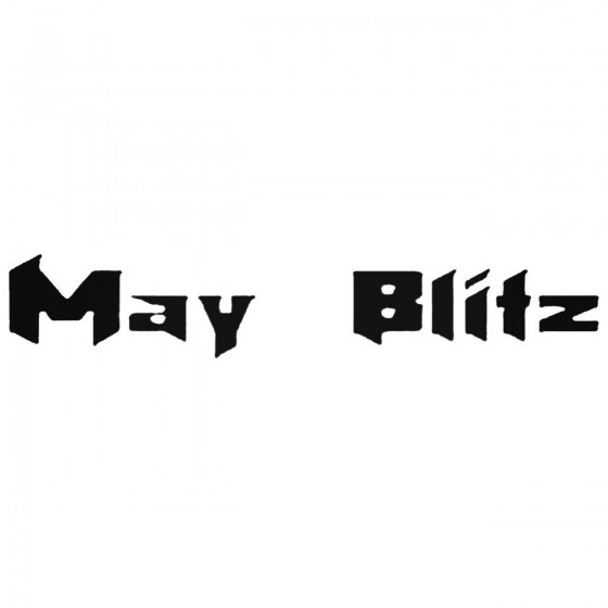 May Blitz Band Decal Sticker