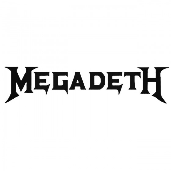 Megadeth Band Decal Sticker