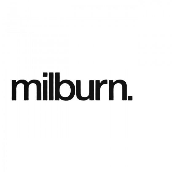 Milburn Band Decal Sticker