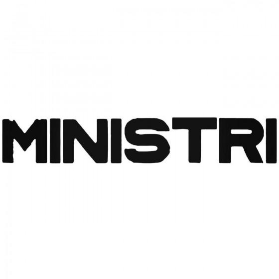Ministri Band Decal Sticker